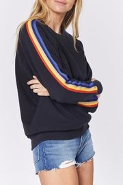 SPIRITUAL GANGSTER Striped Crew Sweatshirt - Product Mini Image