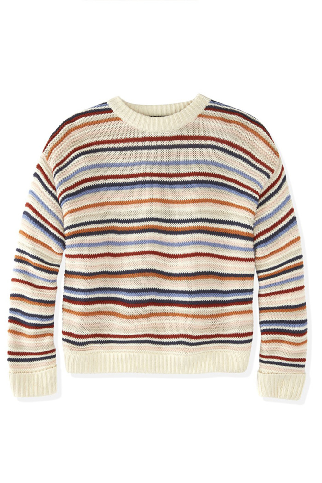 525 America STRIPED CREWNECK SWEATER - Back Cropped Image