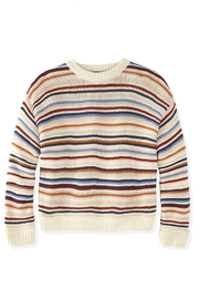 525 America STRIPED CREWNECK SWEATER - Back cropped