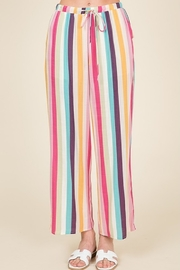 Lumiere Striped Crop Pant - Front cropped