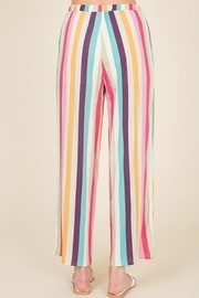 Lumiere Striped Crop Pant - Back cropped