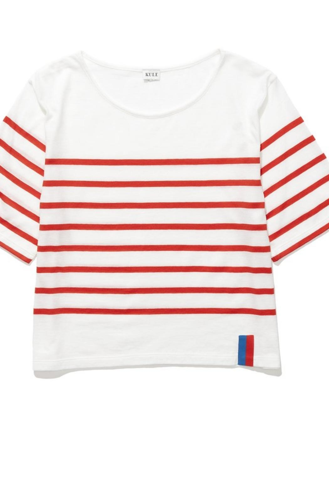 Kule Striped Crop Tee - Front Cropped Image