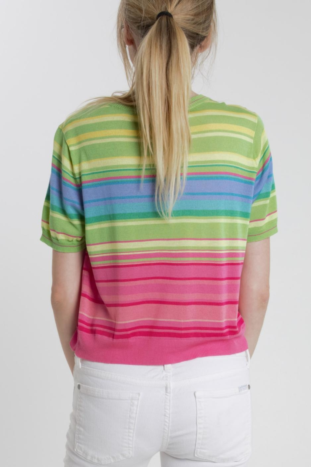 Thread+Onion Striped Crop Top - Side Cropped Image