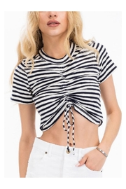 Olivaceous Striped Crop Top - Product Mini Image