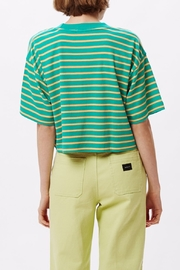 Obey Striped Crop Top - Front full body