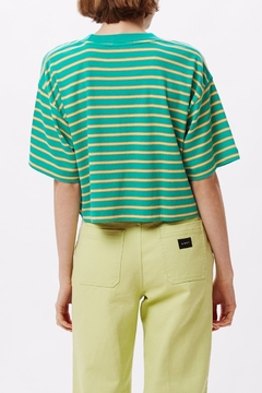 Obey Striped Crop Top - Alternate List Image