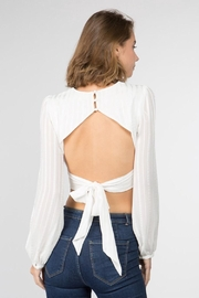 FANCO Striped Crop Top - Front full body