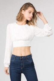 FANCO Striped Crop Top - Front cropped