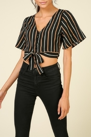 Timing Striped Crop Top - Product Mini Image