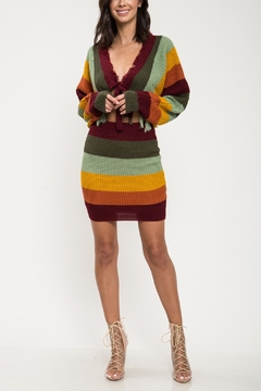 L'atiste Striped Cropped Sweater - Product List Image