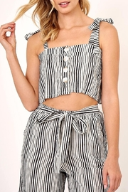 Olivaceous Striped Cropped Top - Product Mini Image