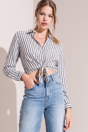 rag poets Striped Cropped Top - Product Mini Image