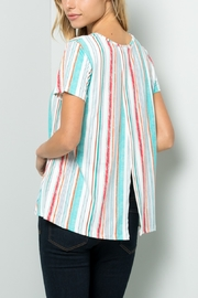 Lyn-Maree's  Striped Crossover Back Tunic - Product Mini Image