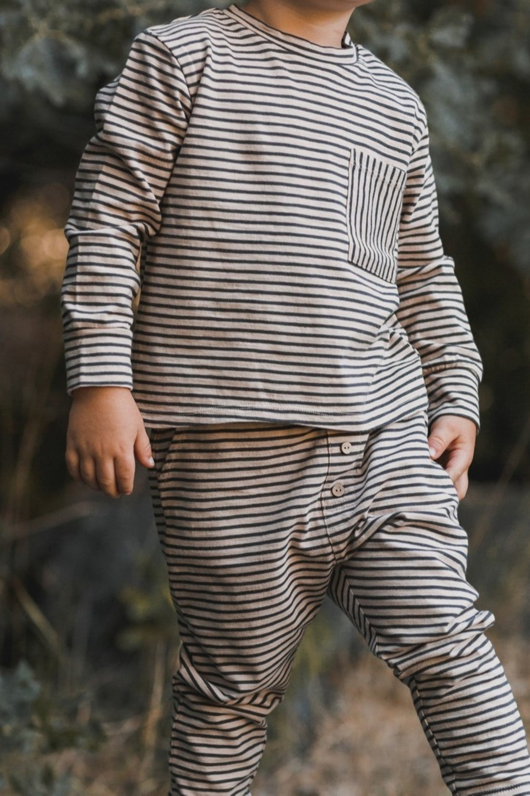 Rylee & Cru Striped Cru Pant - Front Full Image