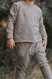 Rylee & Cru Striped Cru Pant - Front full body