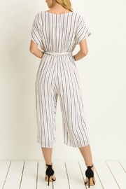 Le Lis Striped Cullotte Jumpsuit - Front full body