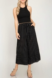 She + Sky Striped Cullotte Pant - Product Mini Image