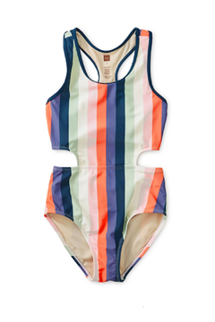 Shoptiques Product: Striped Cut-Away One-Piece