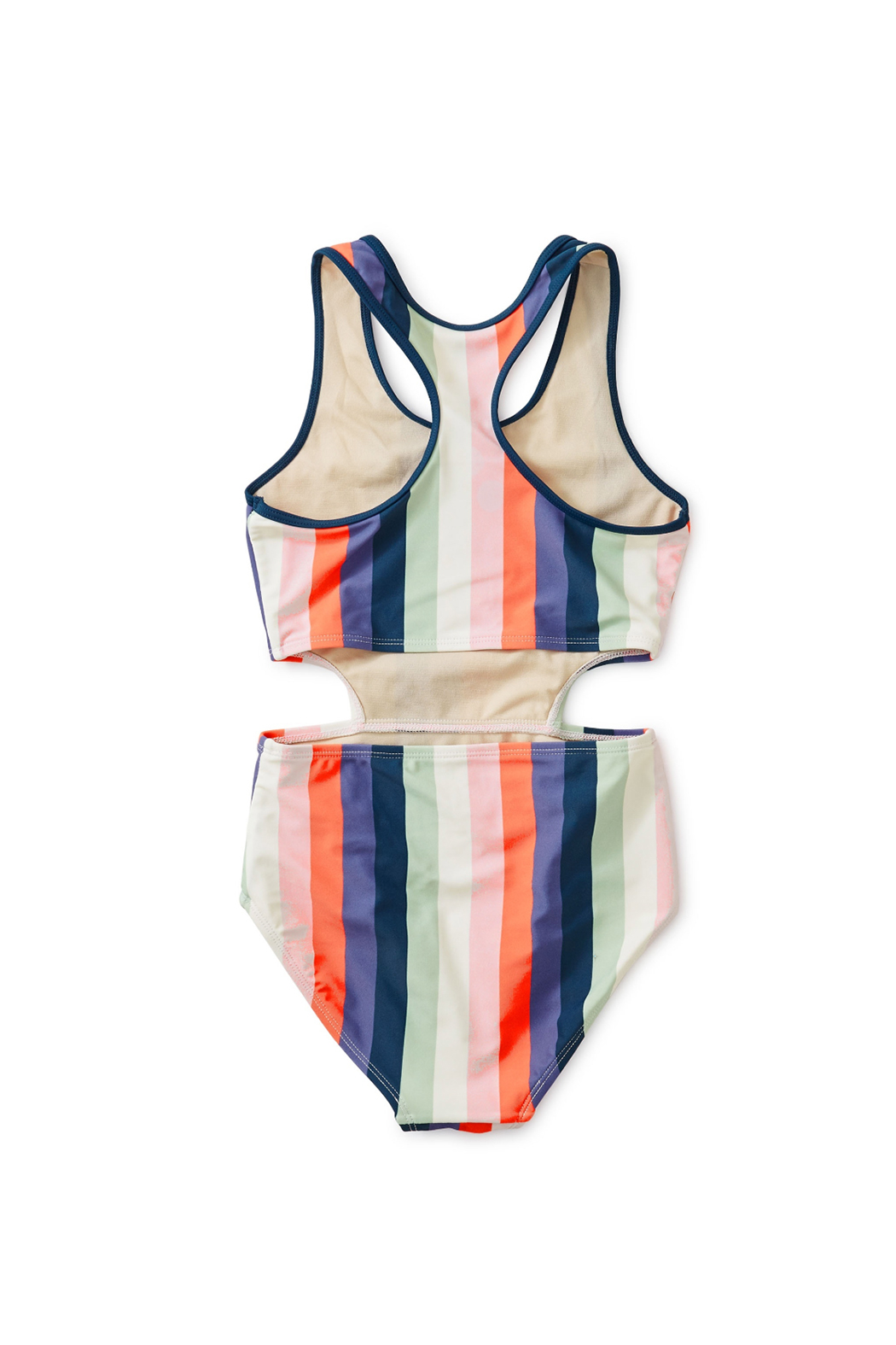 Tea Collection Striped Cut-Away One-Piece - Front Full Image