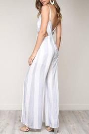 blue blush Striped Cut-Out Jumpsuit - Product Mini Image