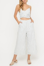 Lush Clothing  Striped Cutout Jumpsuit - Product Mini Image