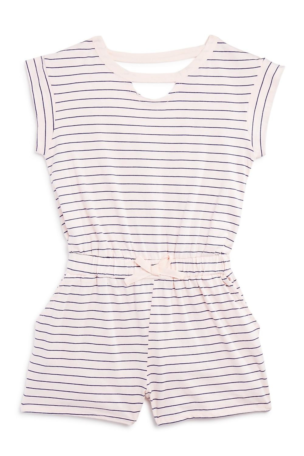 Splendid Striped Cutout Romper - Front Cropped Image