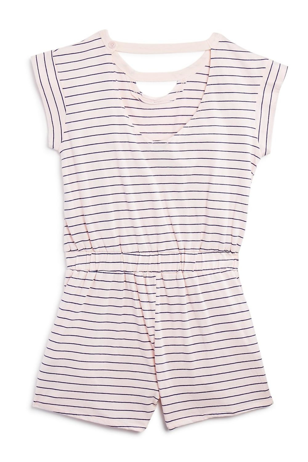 Splendid Striped Cutout Romper - Front Full Image