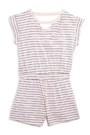 Splendid Striped Cutout Romper - Front full body