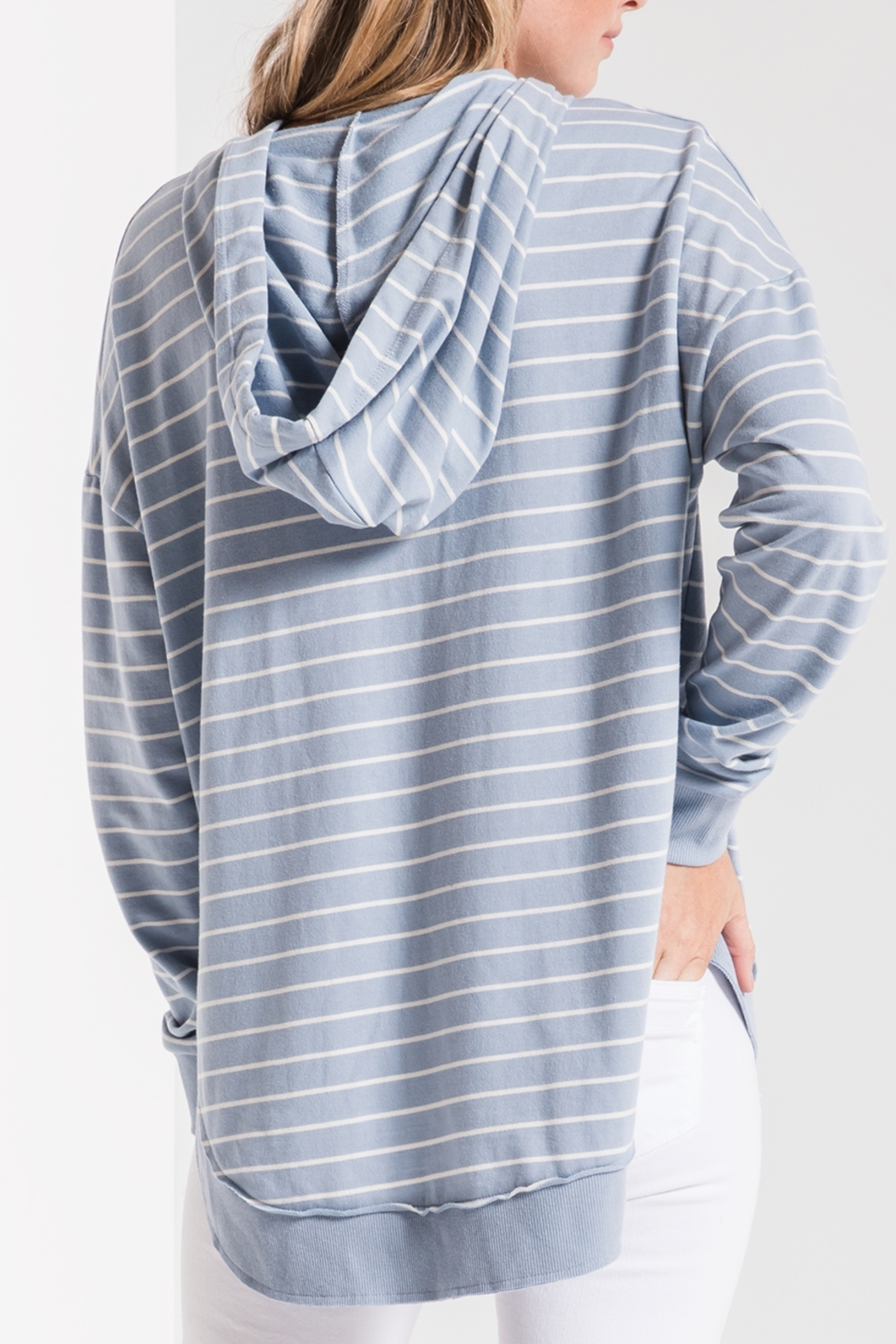 z supply Striped Dakota Pullover Hoodie - Side Cropped Image
