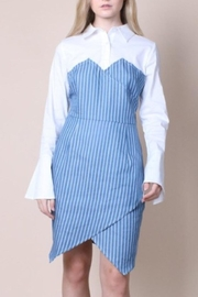 Chloah Striped Denim Dress - Product Mini Image