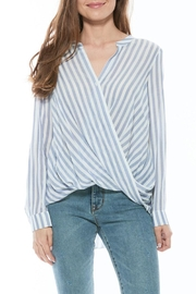 Olive and Oak Striped Drape Blouse - Product Mini Image