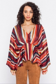 Flying Tomato Striped Draped Top - Product Mini Image