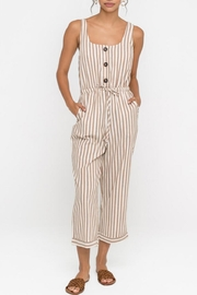 Lush Clothing  Striped Drawstring Jumpsuit - Product Mini Image