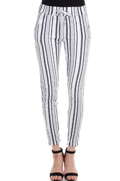 Shoptiques Product: Striped Drawstring Pants