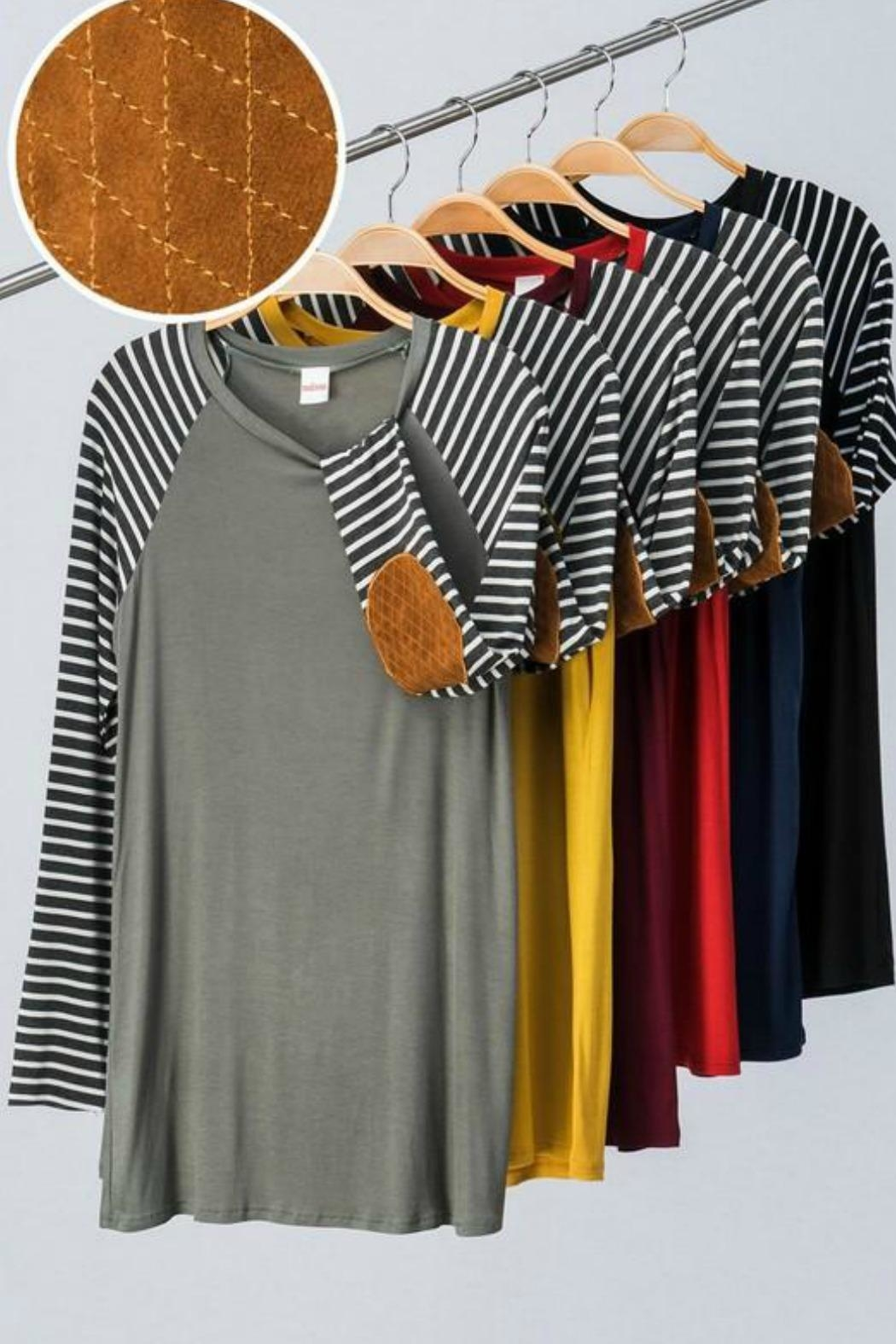 Trend:notes Striped Elbow Patch - Main Image