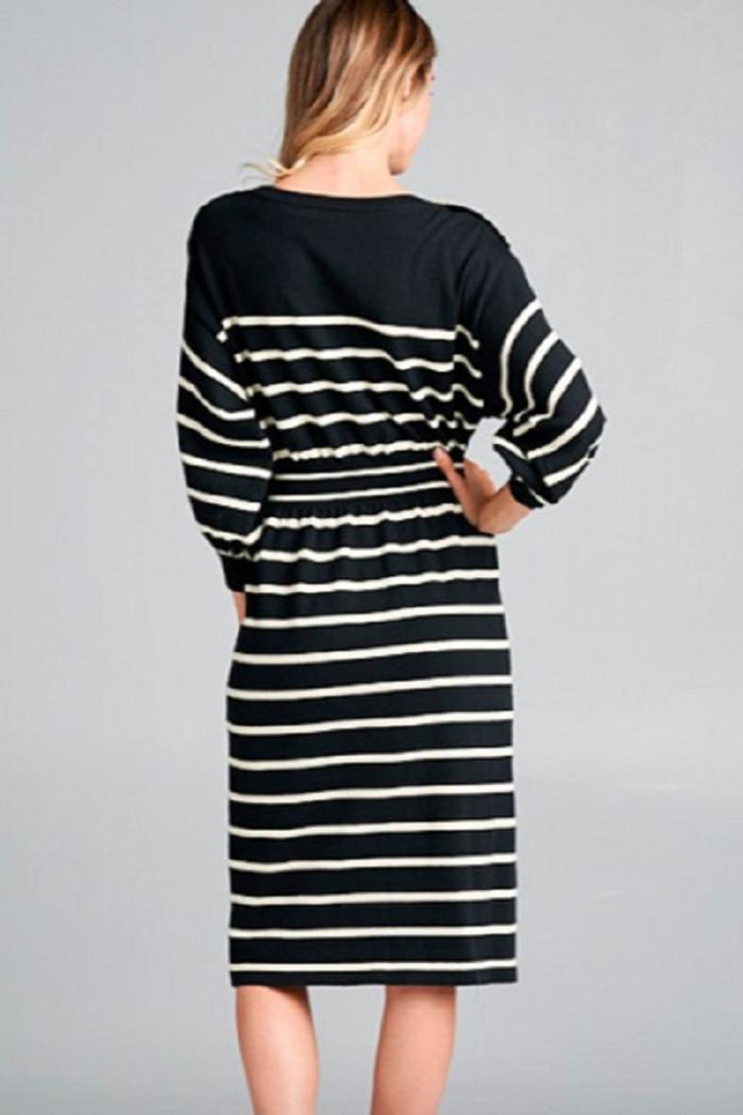 Ellison Striped Ellie Dress - Front Full Image