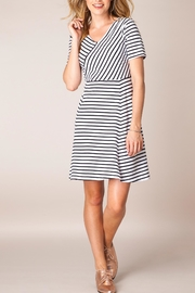 Ivy Beau Striped Flare Dress - Product Mini Image