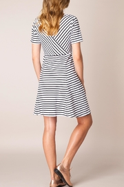 Ivy Beau Striped Flare Dress - Front full body