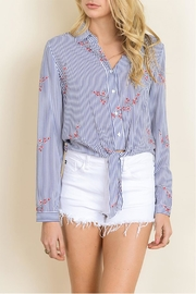 dress forum Striped Floral Blouse - Product Mini Image