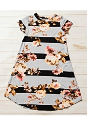 HONEYDEW Striped Floral Dress - Product Mini Image