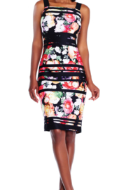 Adrianna Papell Striped Floral Dress - Product Mini Image