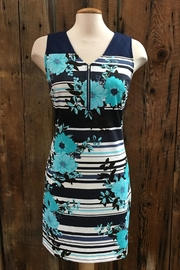Point Zero Striped Floral Dress - Product Mini Image