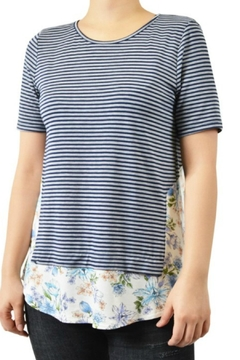Shoptiques Product: Striped Floral-Panel Tee