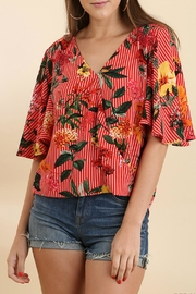 Umgee USA Striped Floral Top - Product Mini Image