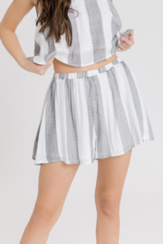 After Market Striped Flowy Short - Product Mini Image