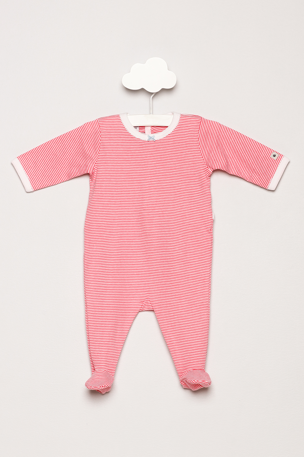 Petit Bateau Striped Footie Pajamas - Main Image