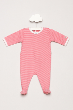 Petit Bateau Striped Footie Pajamas - Product List Image