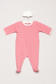 Petit Bateau Striped Footie Pajamas - Front cropped