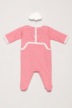 Petit Bateau Striped Footie Pajamas - Alternate List Image