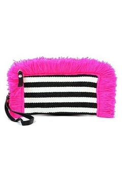Jadetribe Striped Fringe Clutch - Product List Image